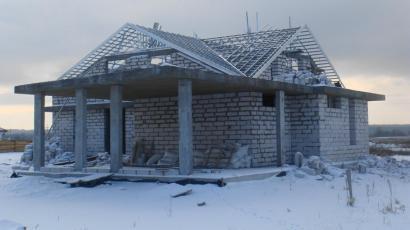 Крыша коттеджа Киевская обл. с. Безрадичи