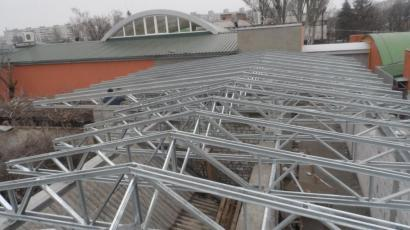 Крыша магазина г. Черкассы ул. Энгельса вторая  очередь