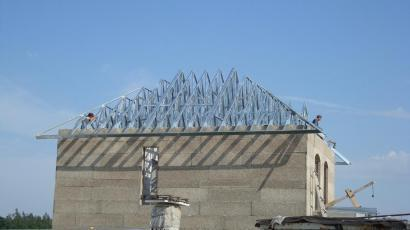 The roof of a house with. Bezradichi Kiev obl.